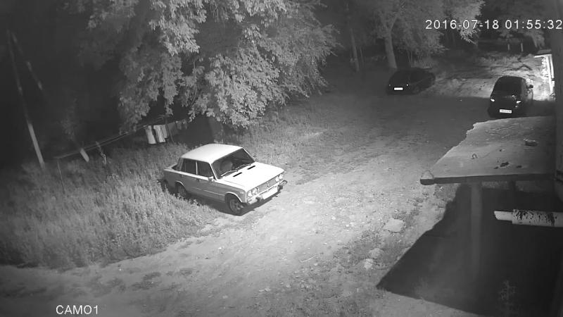 Для чего нужно видеонаблюдение или как в мою машину въехал пьяный и свалил на 50 метров