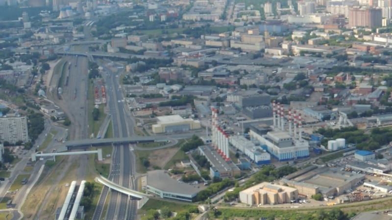 Москва Сити вид сверху, высота 354 метра (вторая по высоте)