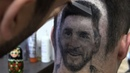 Serbian hairdresser 'draws' Messi and Ronaldo for World Cup fans