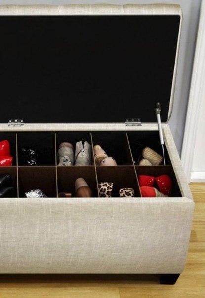 Пуф + хранение обуви