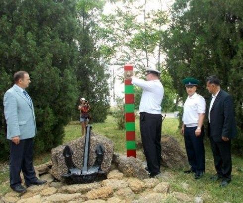 В Таганроге установили памятный знак «Пограничникам всех поколений»
