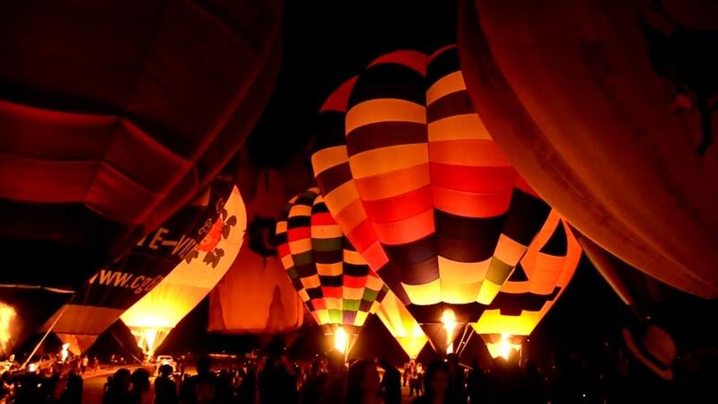 Фестиваль воздушных шаров в парке Singha, Чианг Рай, Таиланд || Singha International Balloon Fiesta