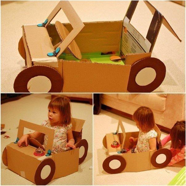 Поделки для детей из картона