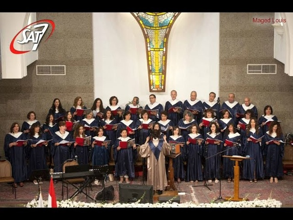 The Evangelical Church celebrates in Heliopolis in Cairo. On the glorious Easter. Hymns