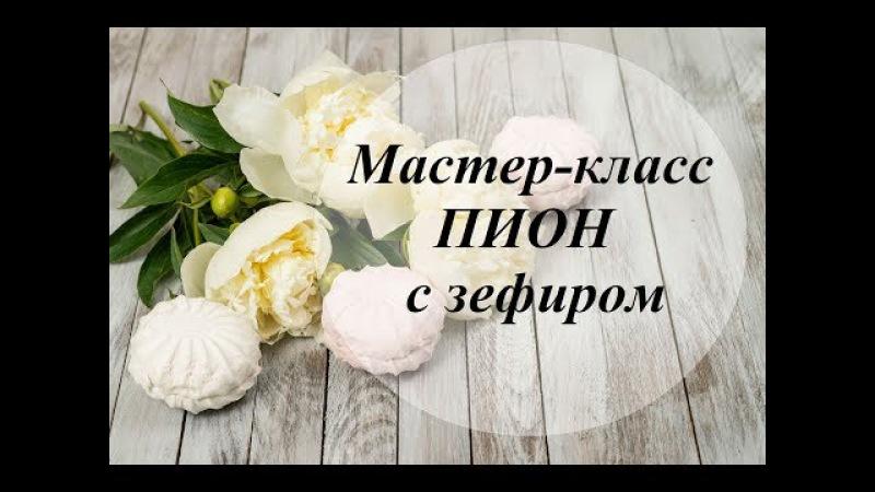 Пион с зефиром. Мастер класс / Peony with marshmallows. Master-Class