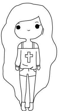 картинки для девочек как рисовать