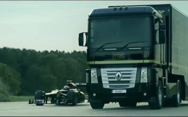 Jump a giant truck through a Formula 1 car Origin - Apollo