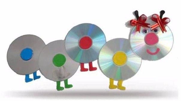Поделки из дисков в детском саду своими руками