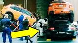 ПРИПАРКОВАЛ СВОЮ МАШИНУ НА КРЫШУ Porsche 911- Хозяин был в Шоке !