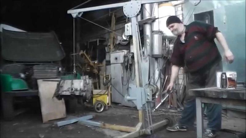 самодельный гаражный кран