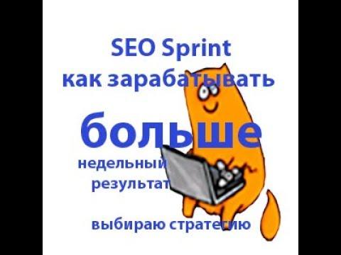 Seo sprint неделя работы, результаты