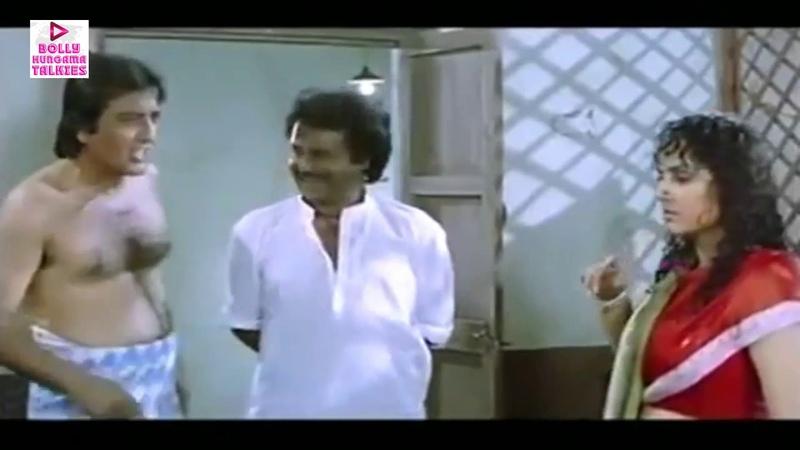 Vinod Khanna Jaya Prada Rajinikanth Romantic Bathroom Comedy Scene Bollywood Movie Scenes