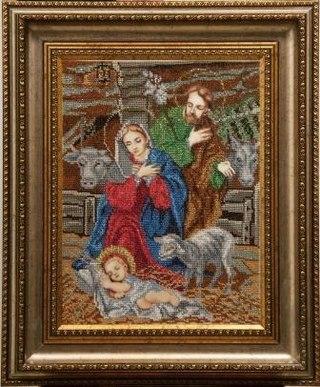 """Вышивка бисером иконы/БС Солес/ """"Рождество Христово """" В состав вышивального набора входит: 1) канва..."""