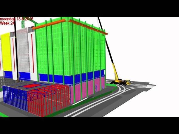 Vernieuwing Rijnstraat 8 Den Haag 4D simulatie planning wk 8 - 36