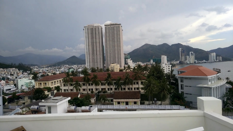 Нячанг, вид с крыши дома