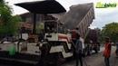 Asphalt Paver Sumitomo HA45W Dump Truck and Sprayer Working
