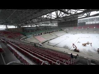 Съемка стадиона «Открытие Арена». 19 марта 2014 года
