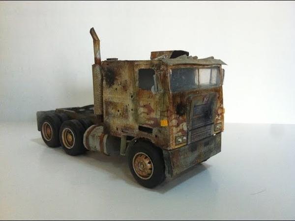AGE OF EXTINCTION evasion truck mode custom paper optimus prime!