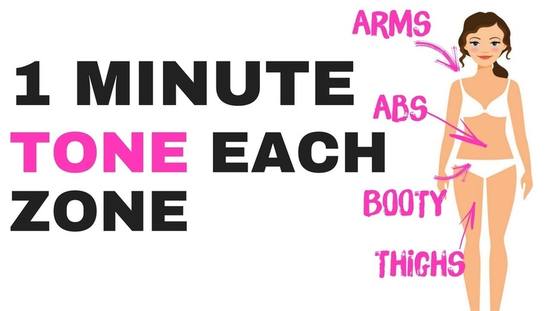 QUICK HOME TONING WORKOUT - 1 MINUTE EACH ZONE - TONE YOUR ARMS, ABS, THIGHS BOOTY START NOW