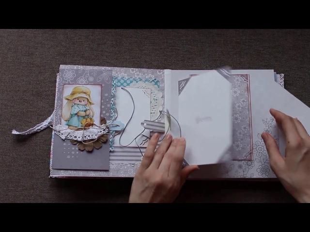 Детский мини альбом ручной работы для девочки ✿ Скрапбукинг ✿ Детские альбомы на заказ