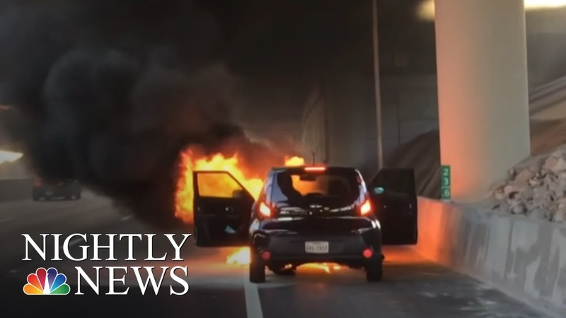 Growing Concern Over Fire Risk Involving Kia Vehicles   NBC Nightly News
