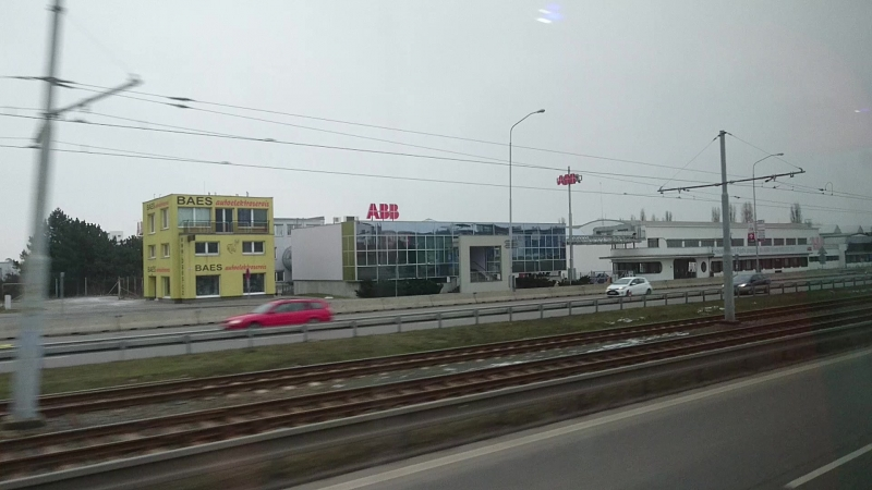 Small piece of ABB factory Brno CZ