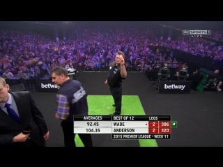 James Wade v Gary Anderson (2015 Premier League Darts / Week 11)