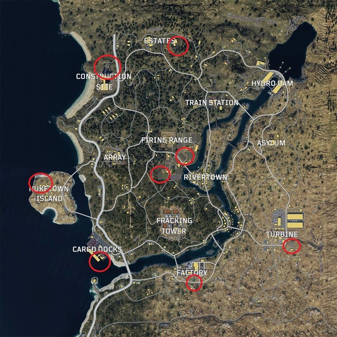 расположение вертолетов Blackout в Call of Duty: Black Ops 4