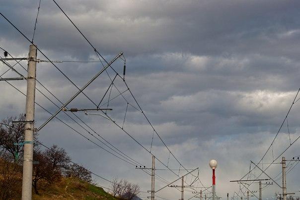 станция Белый Уголь, тучи над городом