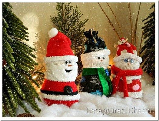 Дед Мороз из носка. Мастер-класс (10 фото) - картинка