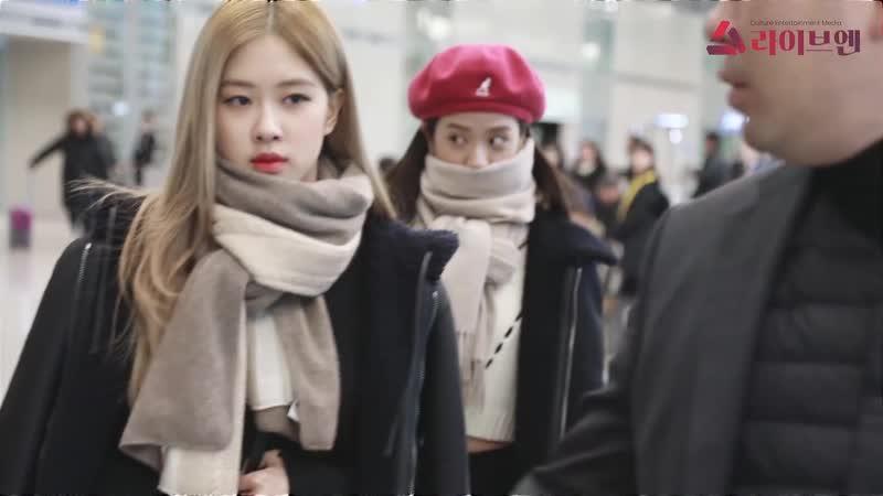 181209 JISOO ROSE @ Incheon airport (Seoul, Korea) from Pudong (Shanghai, China)