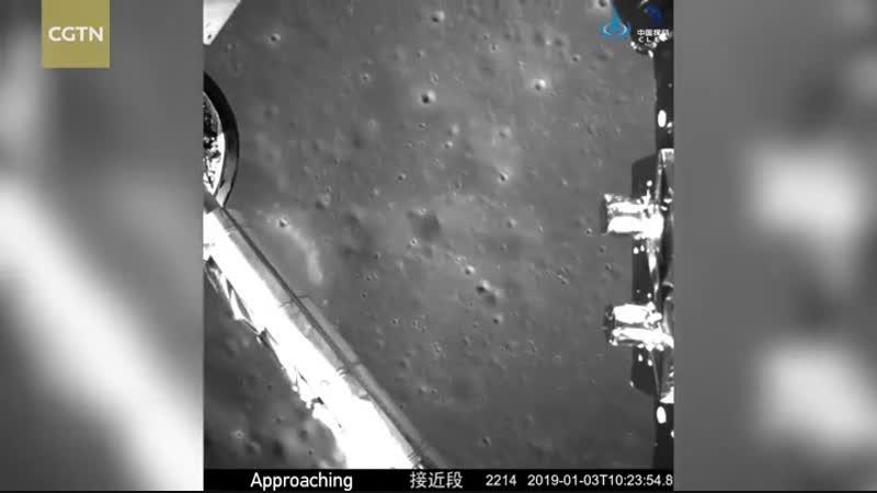 Видео посадки модуля на обратную сторону Луны.