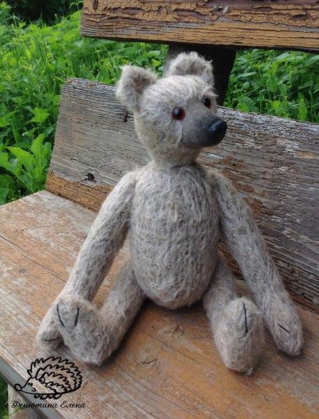 Мишка тедди Филипп! Любит лакомиться медом и сидеть на ручках Сшит из немецкого мохера, набит опилоч… (4 фото) - картинка