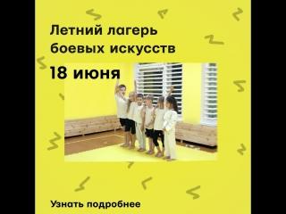 Летний лагерь боевых искусств для детей 8-13 лет