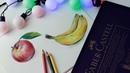 Рисую яблоко цветными карандашами ♡ Урок рисования цветными карандашами Katerina Rise