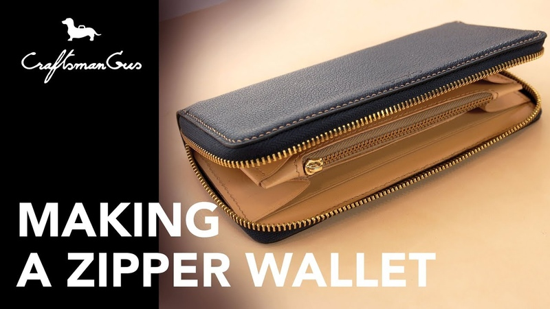 Making Leather Wallet : Long Zipper Wallet LeatherAddict EP30