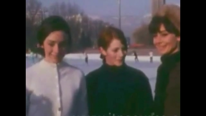 1968 Chamrousse Audrey Hepburn at the Winter Olympic Games near Grenoble in the French Alps