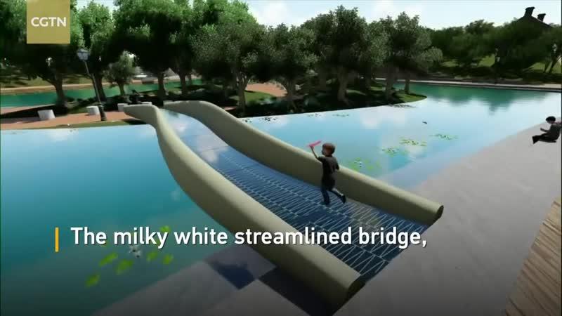 В Шанхае открыли самый длинный пластиковый мост, напечатанный на 3D-принтере