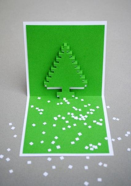 Фото как делать открытки на новый год