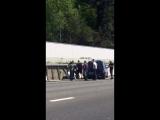 Авария выезд с Хосты в сторону Адлера, водитель уснул за рулём.