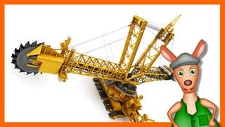 BUCKET WHEEL EXCAVATOR: Construction site videos for kids. Preschool & Kindergarten learning.
