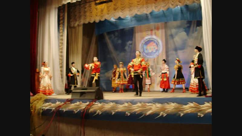 2010гНац Культура Танец пролог Мы живём семьёй единой Кемеровский р н клуб анс танца Многоцветье