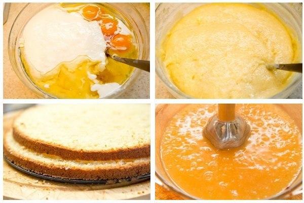 Торт домашний с творожно-яблочным кремом. Торт прост в