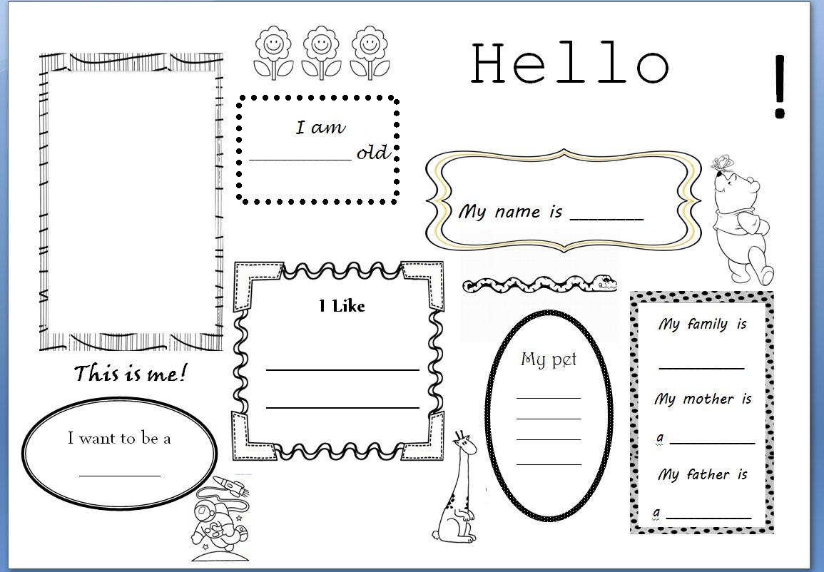 Teaching Ideas Hello Its Me Writing Activity