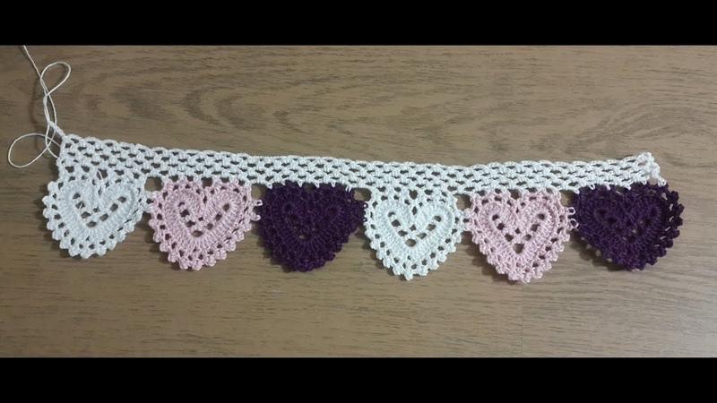 Havlu Kenarı Yapımı, Tığişi Örgü Havlu Kenarı yapımı Crochet