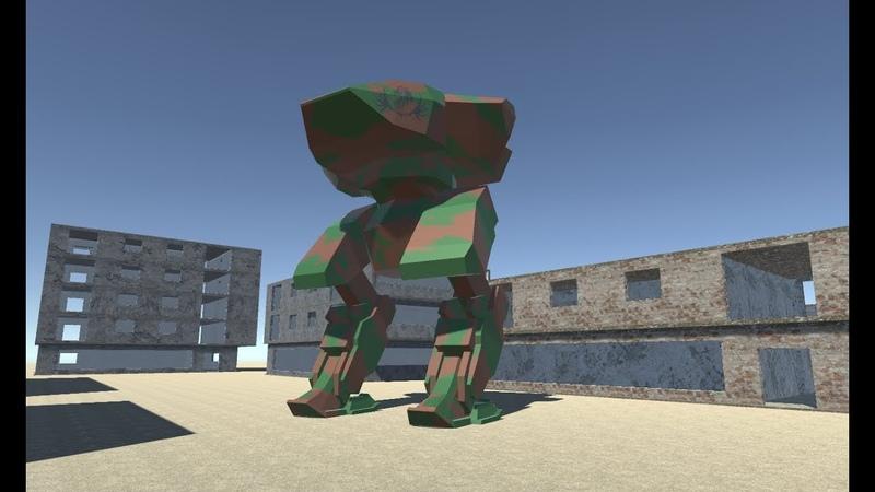 102.06 Моделирование робота в Blender. Текстурирование в Gimp и экспорт в Unity