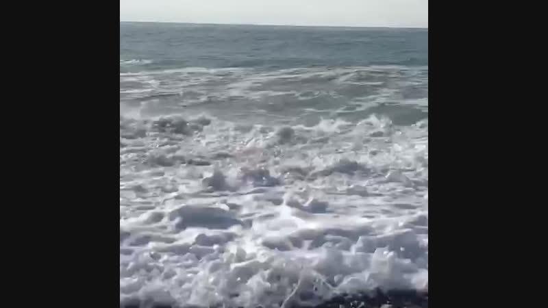Большие волны в Адлере 21.11.18