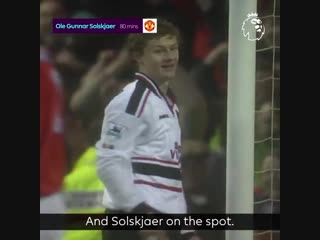OnThisDay in 1999, @ManUtds Ole Gunnar Solskjær came off the bench