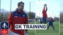 Swansea Goalkeepers Prepare for Tottenham Goalkeeper Training Emirates FA Cup 2017 18