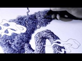 Очень стильная и невероятно красивая японская реклама перьевой ручки Pilot